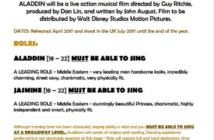 Disney Aladdin Casting Call